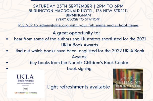 Photo: UKLA Book Awards Event
