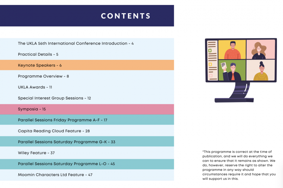 UKLA Conference Brochure 2021 - Contents